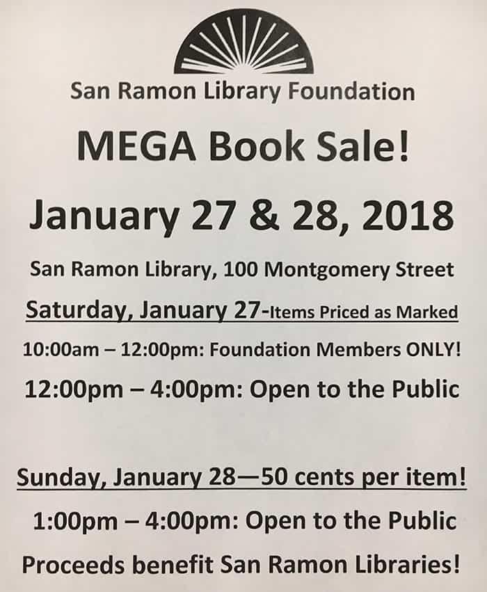San Ramon Library Foundation MEGA Book Sale